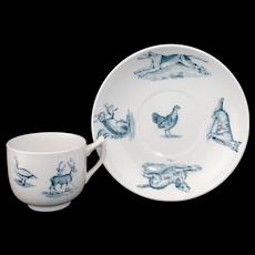 c 1880Childs Cup & Saucer Set  ANIMALS  Copeland Spode Staffordshire England