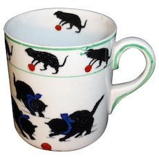 Rare Childs BLACK CATS Cup Grimwades England c1920