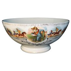 Rare Circus Centerpiece Punch Bowl Joseph Schachtel Germany 1880