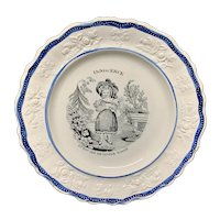 Pearlware Staffordshire Plate 1830 Found Cat