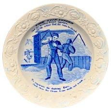 1830 Staffordshire THRASHER Plate ~ Progress of Quartem Loaf