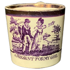 The BEST Child's Creamware Mug ~ A Present for my Girl 1820