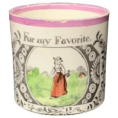 Child's Creamware Mug ~ For My Favorite 1820