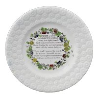 Staffordshire Childs Plate Praise for LEARNING TO READ c1840