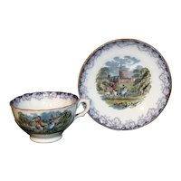 Mulberry Flow Blue 2pc Child Tea Set WINDSOR ROYAL CHILDREN Staffordshire 1850