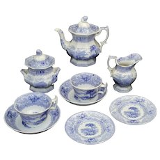 Rare Childs Historical Staffordshire Tea Set CANADIAN VIEWS Morley Bartletts Views 1840