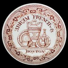 Abram French & Co. Boston Advertising Salesman Miniature Plate 1870