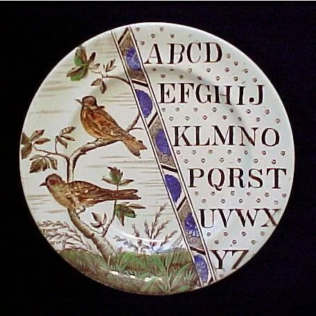 Abc Plate Haffinch Amp Goldfinch Childhood Antiques