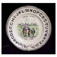 Pearlware ABC Plate ~ Simple Simon