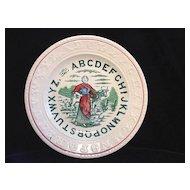 Staffordshire Double Alphabet ABC Plate ~ MILKMAID