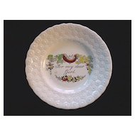 1840 Pearlware Plate ~ For My Dear Girl