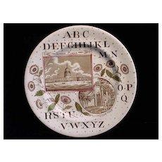 Alphabet Nursery Plate ~ Washington ~ 1880