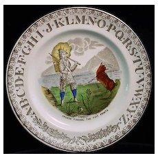 Antique Robinson Crusoe ABC Plate 1880