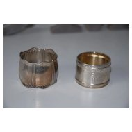 Antique Solid Silver Napkin Ring