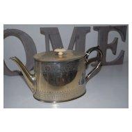 Antique English Silverplate Tea Pot