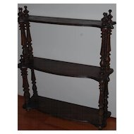 Antique Small Wooden Wall Hanging Shelf-Rack Display