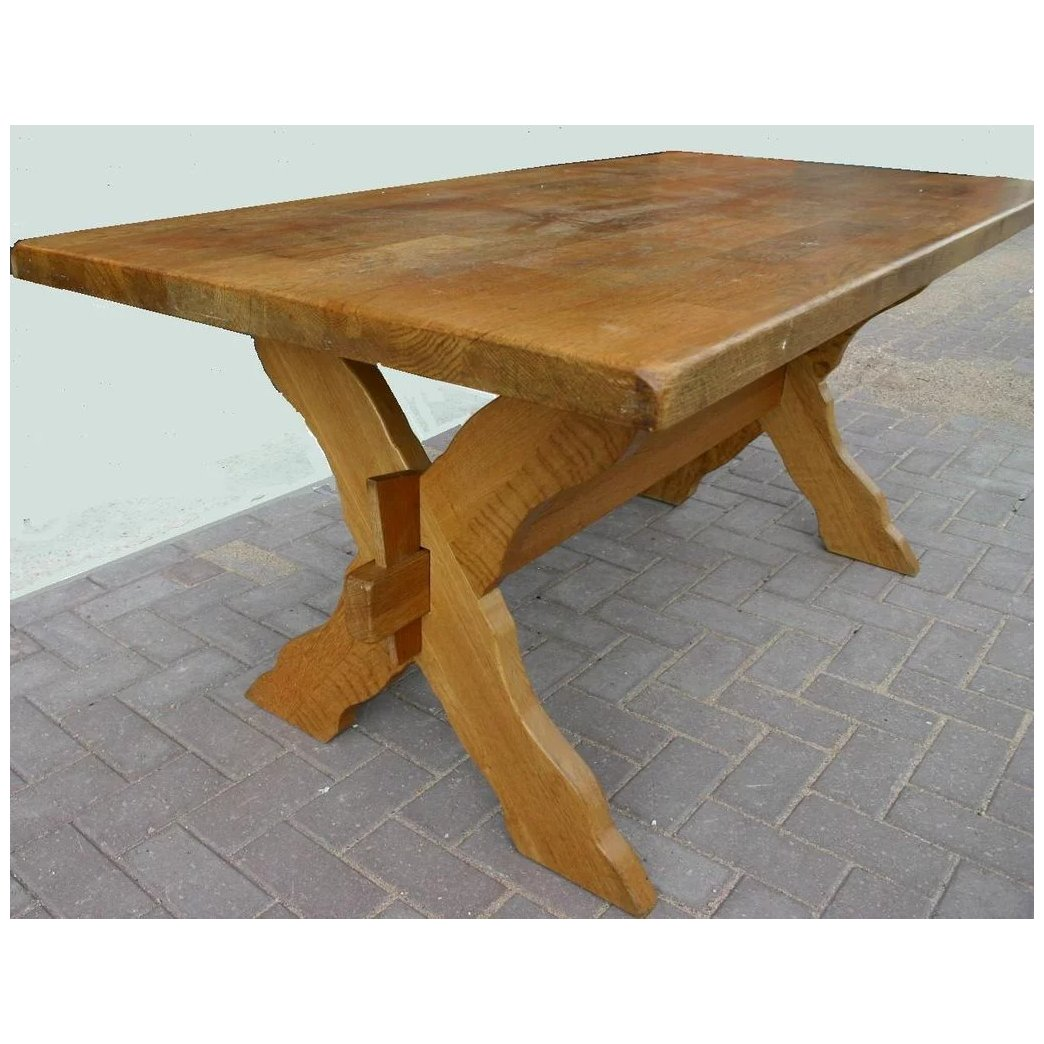 Solid Wooden Rustic Mission Style Table