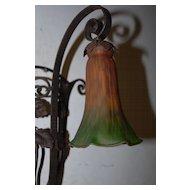 Art Nouveau Hand Made Quality Wrought Iron Art 1- light Sconce