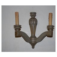 Pair Fine Carved Wood Original Colored Louis V Style Wall Sconces