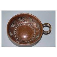 Antique Craft Wrought Metal  Hand Wine Spittoon