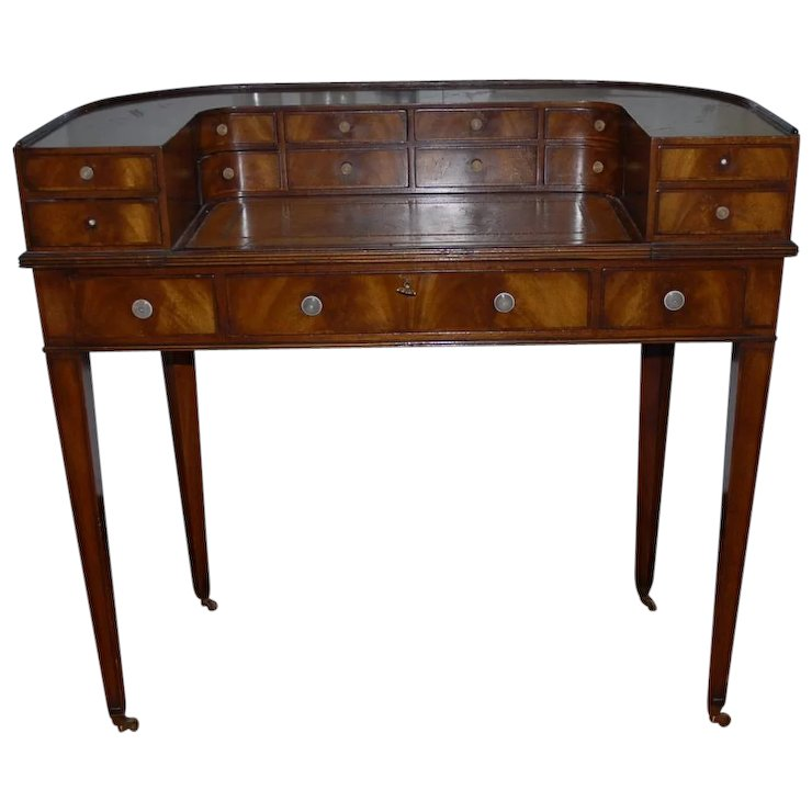 Antique English Shaped Mahogany Desk : Europe Antiques, Collectibles and  Decorations Shop | Ruby Lane - Antique English Shaped Mahogany Desk : Europe Antiques, Collectibles