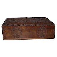 Fabolous Quality Antique Finest Carved Wood Jewelry Casket