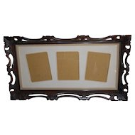 A Large Vintage Carved Wood Panorama Wall Picture Frame