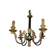 Gorgeous Vintage Fine Bronze Empire Style Eagle Head 4-light Chandelier