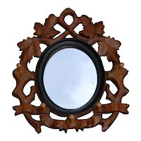 Mirror Picture Frame Carved Wood Rack Hook