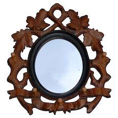 Mirror Picture Frame Carved Wood Rack Hook