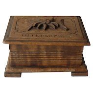 Interlaken Jewelry Casket Box Black Forest Edelweiss Swiss