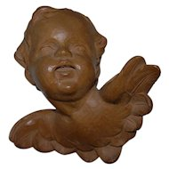 Glorious Cherub Putti Angel Carved Wood