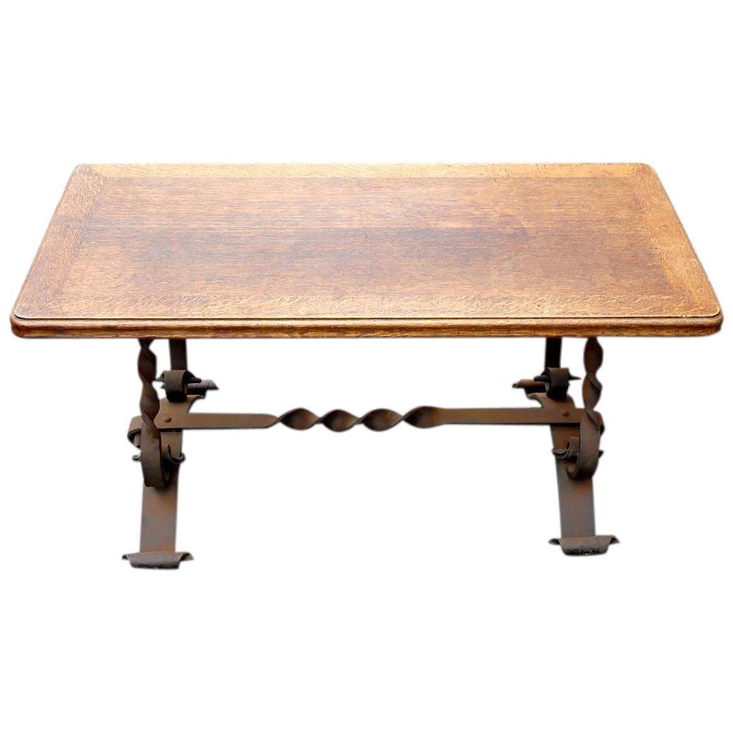 French Coffee Table Decor: Coffee Table Vintage French Rustic Country Hand Made