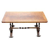 Coffee Table Vintage French Rustic Country Hand Made Coffee Table