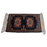 Vintage Hand-Knotted Table Persian Rug / Carpet