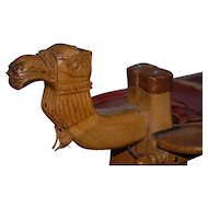 Vintage Carved Wooden Camel Stool