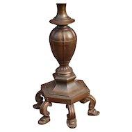"""Heavy """" 50 lbs """" Bronze Torchiere Floor Lamp"""