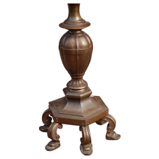 "Heavy "" 50 lbs "" Bronze Torchiere Floor Lamp"