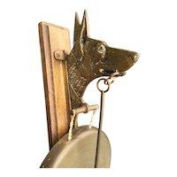 Shepherd Dog Brass Wall Mounted Dinner Gong