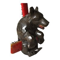 Vintage Bear Black Forest Brush Holder