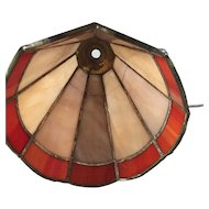 Vintage Pair Leaded Glass Table Lamp Shade