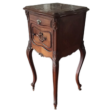 Chic French Louis XV Rosewood Nightstand