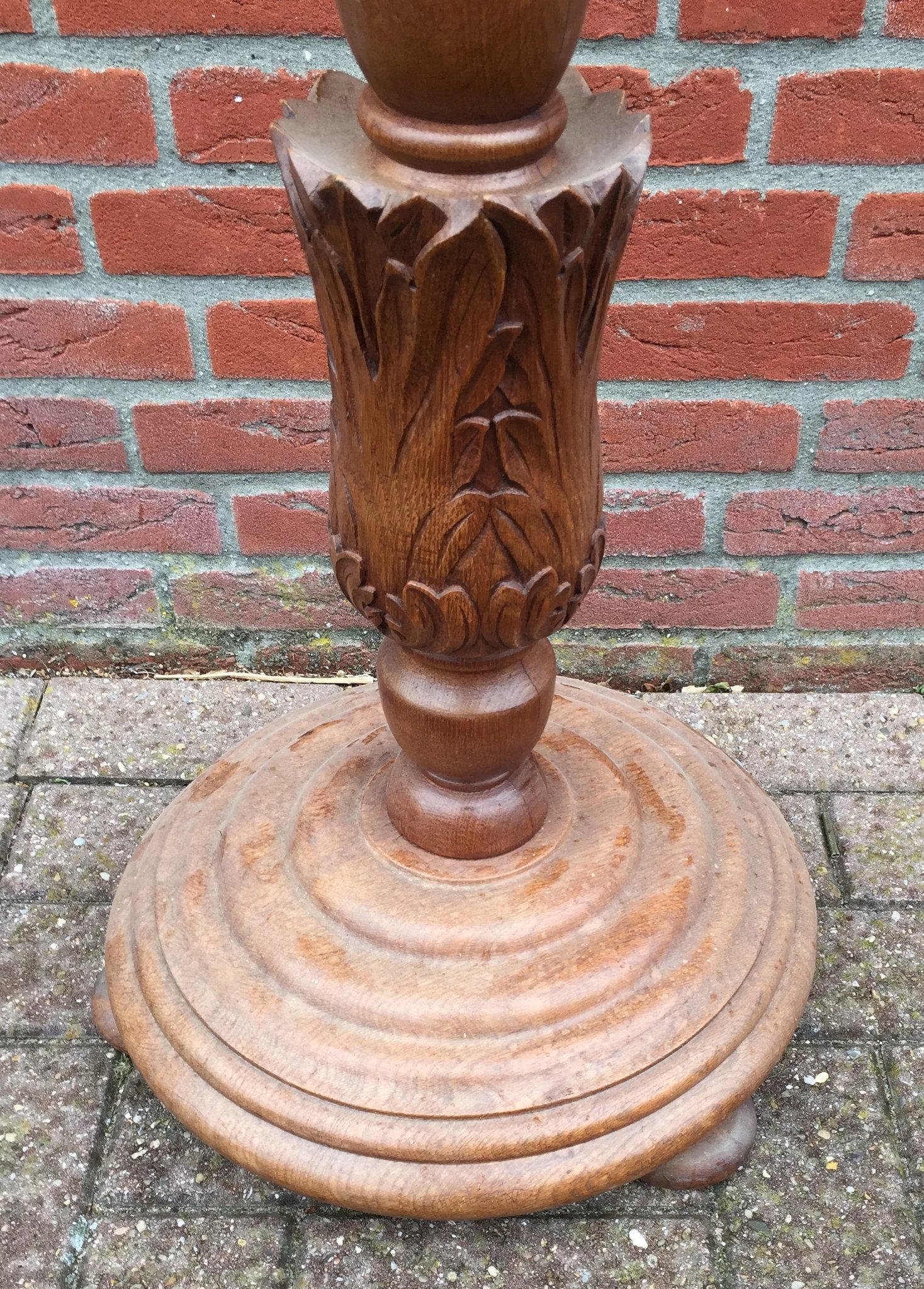 Vintage Carved Art Barley Twist Floor Lamp Europe