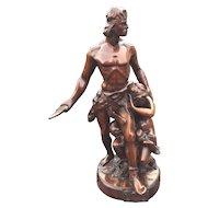 Group Statue by Emile Boisseau La Defense Du Foyer