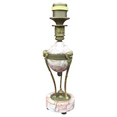 French Gilt Bronze Mounted Marble Table Lamp