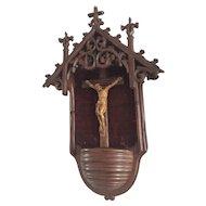 Crucifix Hanging Wall Chapel Stoup