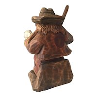 Vintage Black Forest Gnome - Troll sculpture