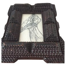 Antique Tramp Art Picture Frame