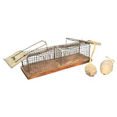 Antique Double Mouse Trap
