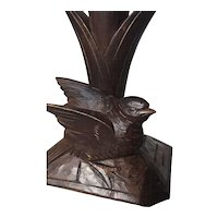 Black Forest Carved Wood Bird Epergne Holder